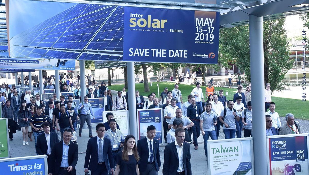 Intersolar 2019 schon im Mai